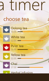 Tea Timer choose tea